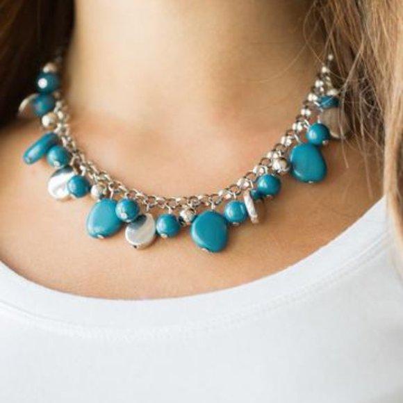 3/$20 Paparazzi Flirtatiously Florida Necklace and Earring Set